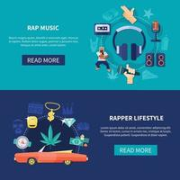 Rap music flat vector