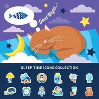 Sleep time vector illustration