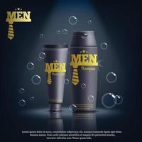 men's cosmetics realistic composition vector