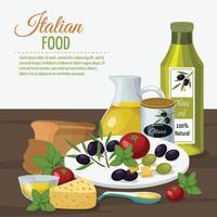 Olive cartoon background vector