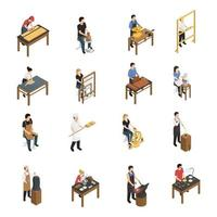craftsman artisan people isometric vector