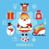 ilustración de vector plano de navidad