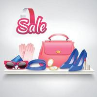 Online shopping realistic vector