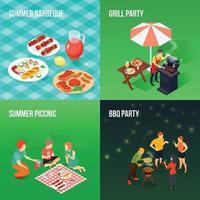 concepto de diseño de picnic familiar vector