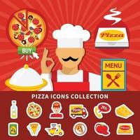 ilustración vectorial de pizza vector
