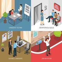 concepto de diseño de entrevista de trabajo vector