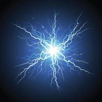 relámpago eléctrico estelar realista vector