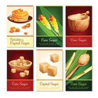 cane sugar cards vector