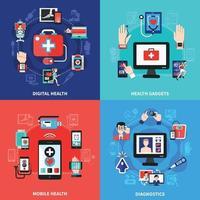 Digital health vector illustration