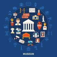 Museum flat vector illustration