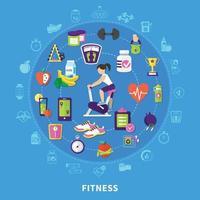 Fitness vector illustration