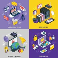 Cloud services isometric