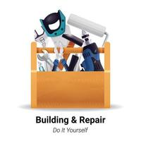 builder instrument toolbox vector