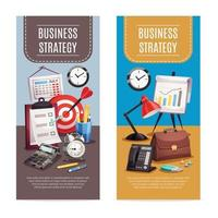 business office vertical banners vector