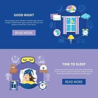 Ilustración de vector de tiempo de sueño
