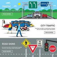 traffic horizontal banners vector