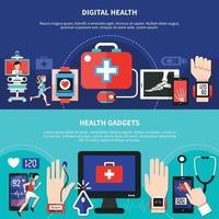 Ilustración de vector de salud digital