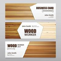 realistic wooden texture banners vector