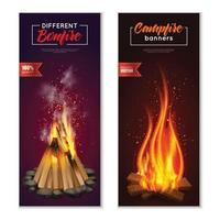campfire banners vector illustration