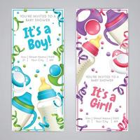 realistic baby bottle milk banners