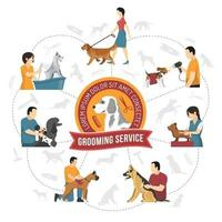 grooming service vector illustration