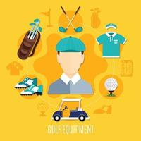 Golf flat illustration vector