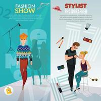 fashion show vertical banners vector