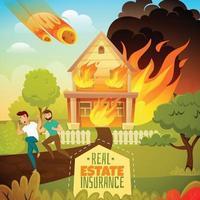 ilustración de desastres naturales vector