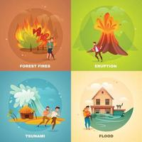 natural disasters design concept vector