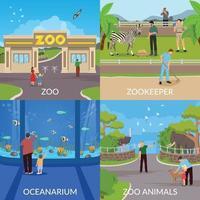 zoo flat 2x2 vector