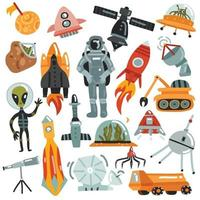 space set illustration vector