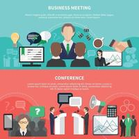 Business meeting vector illustration