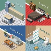 Isometric interior 2x2