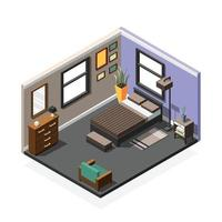 Isometric interior composition vector