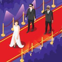 talentos y premios programas de televisión fondo isométrico vector