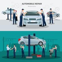 composiciones planas de servicio de coche vector