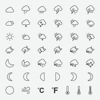Vector illustration of weather icons for graphic, website and mobile design