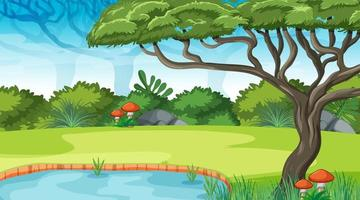 Nature outdoor forest background vector