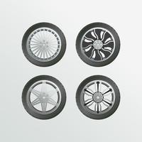 llanta llanta coche conjunto objeto vector colección coche rueda imágenes