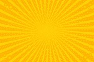 Yellow Retro Vintage Background With Sun Rays vector