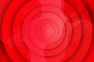 fondo de onda roja creativa con círculos vector