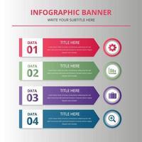 plantilla de banner de infografía empresarial vector
