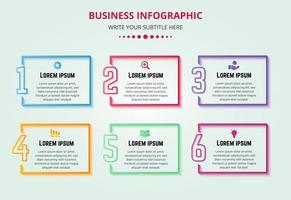 Colorful Business Steps Infographic With Creative Numbers vector