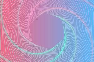 Pink Blue Swirl Hexagon Background vector