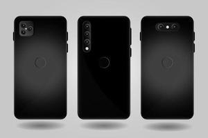 Realistic Smartphone Mockup Back Design vector