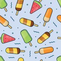 Ilustración de vector de fondo de patrón transparente de palo de helado