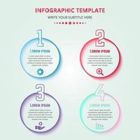 Colorful Infographic Steps With Numbers vector