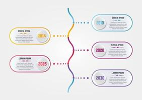 Modern Infographic Template With Yearly Informations vector
