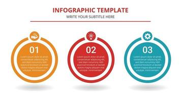 Timeline Business Infographic Template With 3 Steps vector