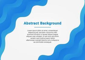 Blue Wave Presentation Background vector